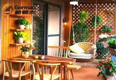 花园木阳台